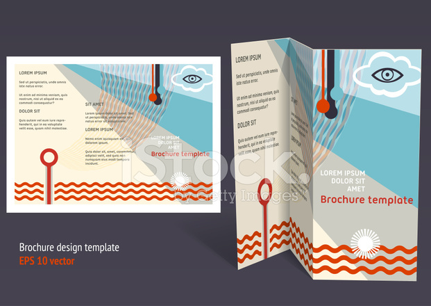 Brochure Booklet Z Fold Editable Design Template Stock Vector - Brochure booklet templates
