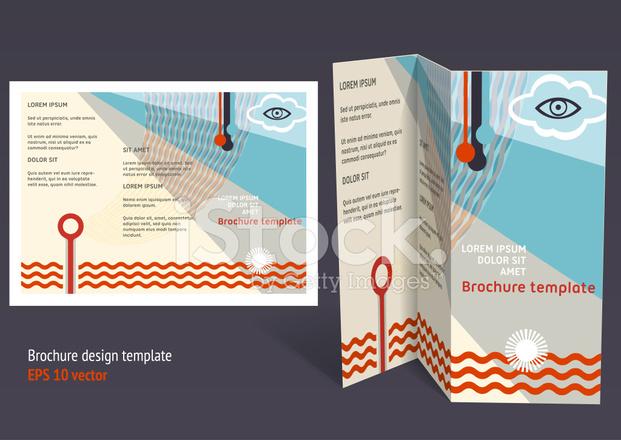 brochure booklet z fold editable design template stock. Black Bedroom Furniture Sets. Home Design Ideas