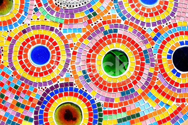 Ornamento Decorativo De La Pared De Mosaico De Cerámica
