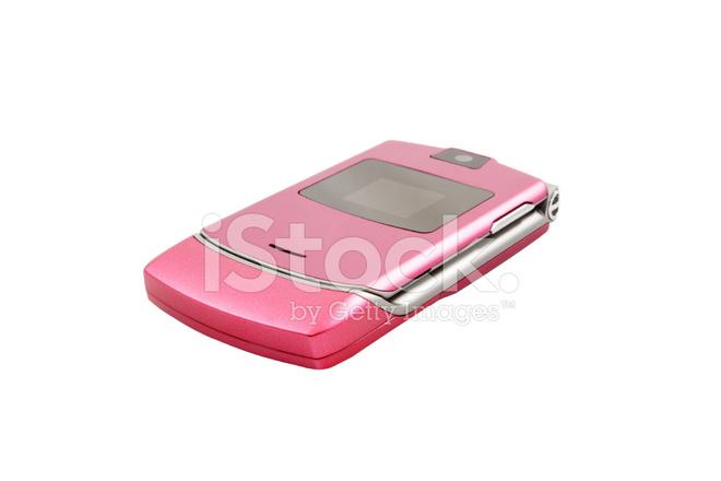 Pink Cell Phone stock photos