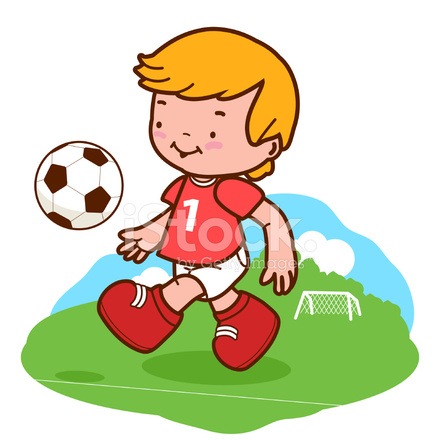 Nino Jugando Futbol Stock Vector Freeimages Com
