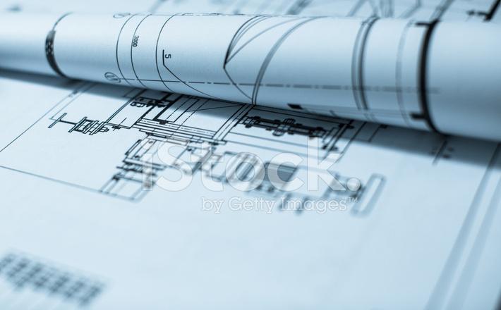 Construction blueprint architecture industry paperwork stock construction blueprint architecture industry paperwork malvernweather Choice Image