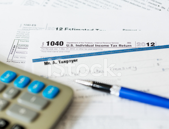 Usa Tax Form 1040 For Year 2012 And Check Stock Photos Freeimages