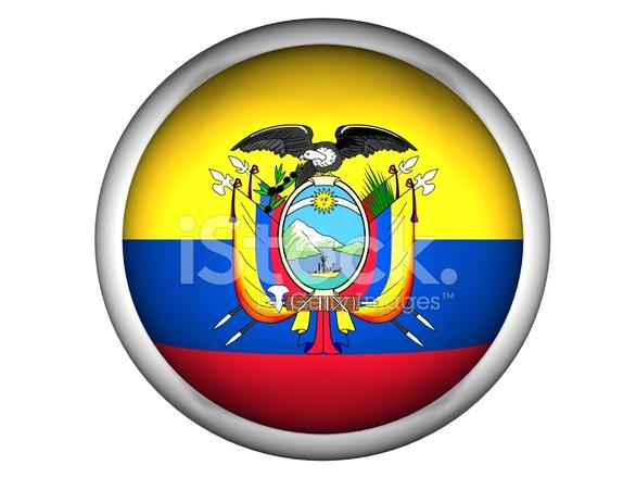 National Flag Of Ecuador Button Style Stock Photos Freeimages