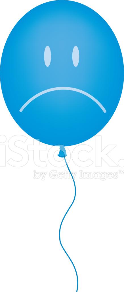 Blue Balloon Sad Face Stock Photos FreeImagescom