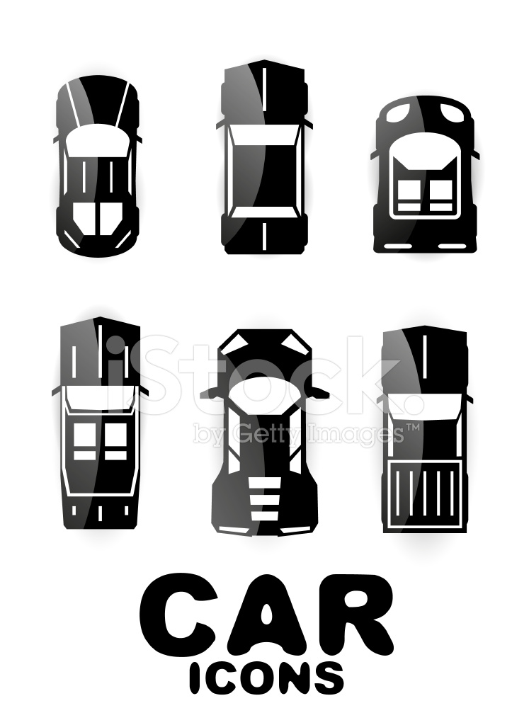 Black And White Minimalistic Car Icons Stock Vector Freeimages Com