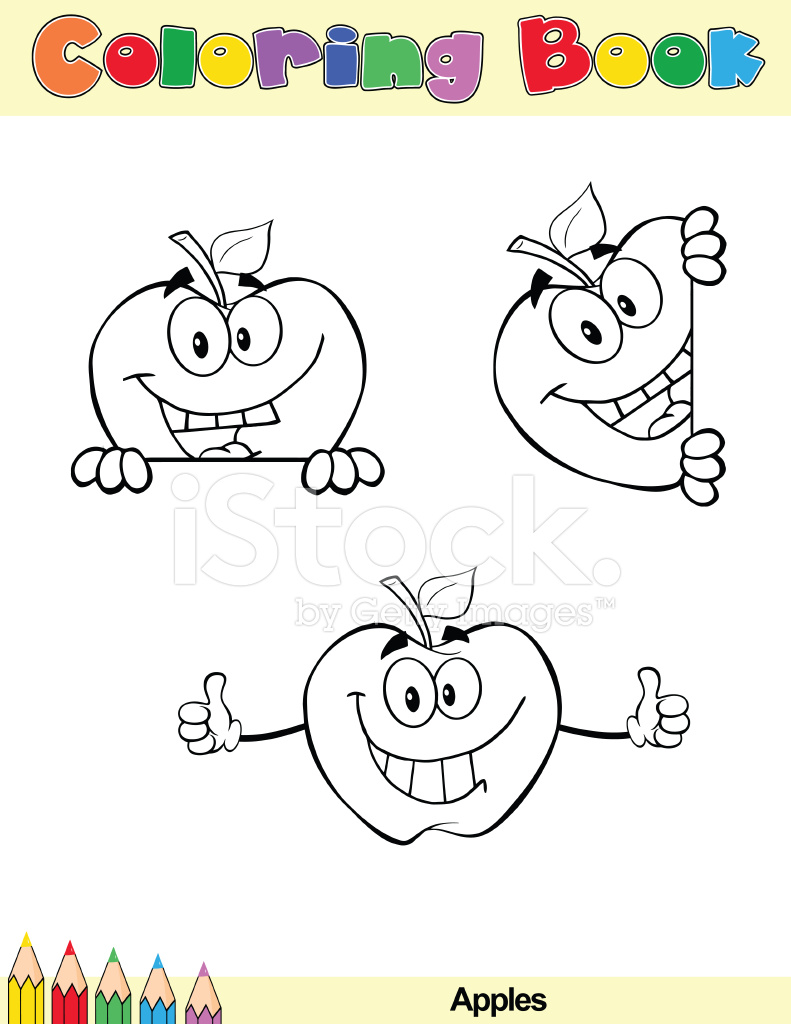 Personajes DE Dibujos Animados Para Colorear Libro 2 Stock Vector ...