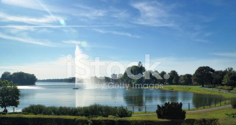 Lake Ada Ciganlija In Belgrade Serbia Stock Photos
