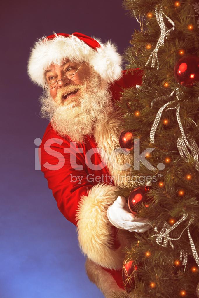 Vintage Bilder Weihnachten.Bilder Von Vintage Echte Weihnachtsmann Versteckt Sich Hinter