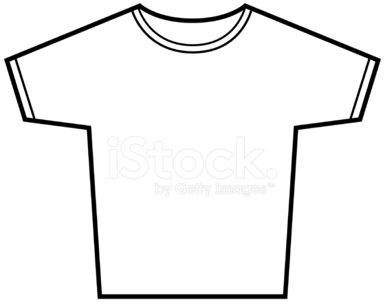 t shirt vector outline stock vector