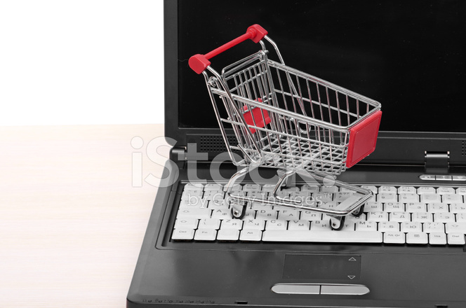 72accbf4e08 Online Trolley on Laptop Stock Photos - FreeImages.com
