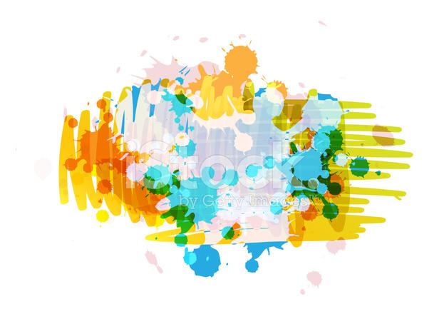 Art Background Design With Ink Splatter Stock Vector