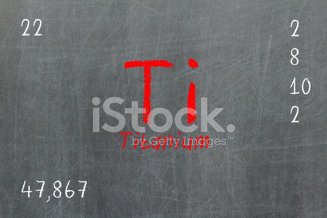 Pizarra aislada con tabla peridica titanio fotografas de stock pizarra aislada con tabla peridica titanio urtaz Choice Image