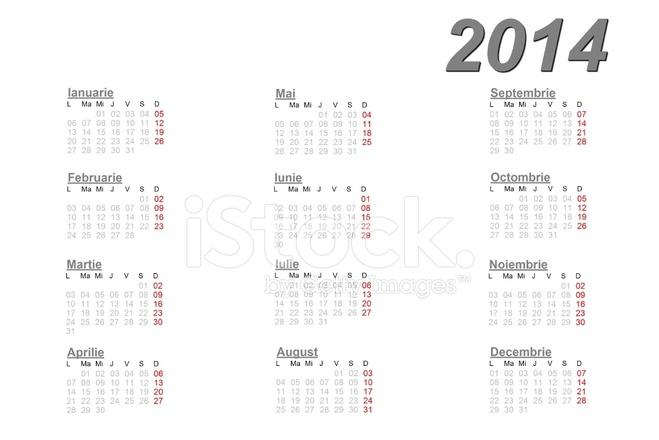 Calendario Rumeno.Calendario Rumeno Per Il 2014 Stock Vector Freeimages Com