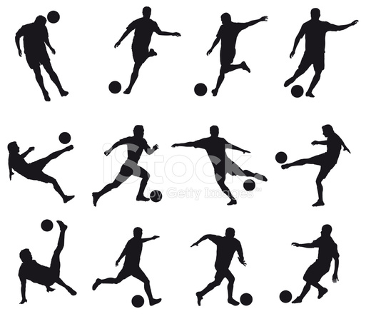 best movements of soccer player stock vector freeimages com