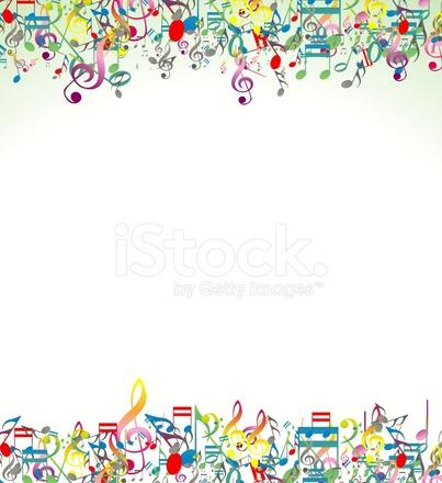 sfondo astratto con note musicali colorate stock vector freeimages com Art Clip Ocean Border christian fish border clip art
