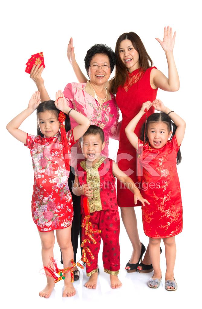 Asiatischen Familie, Ich Wünsche Ihnen Ein Frohes Chinesisches Neues ...