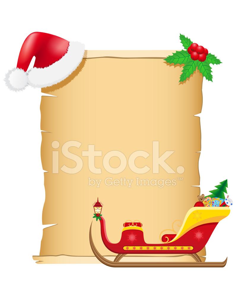 Illustrazione Vettoriale Di Vintage Natale Pergamena Vuota Stock