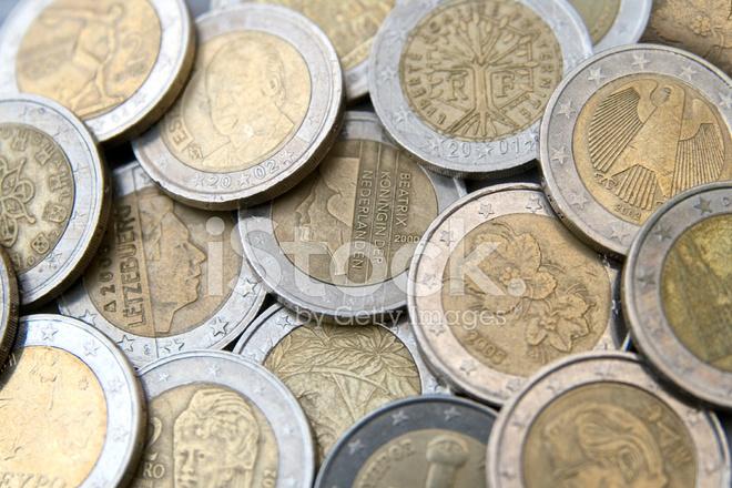 Euro Münzen Aus Verschiedenen Ländern Stockfotos Freeimagescom