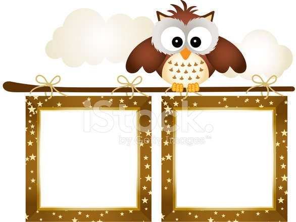 Frame With Owl and Clouds Stock Vector - FreeImages.com