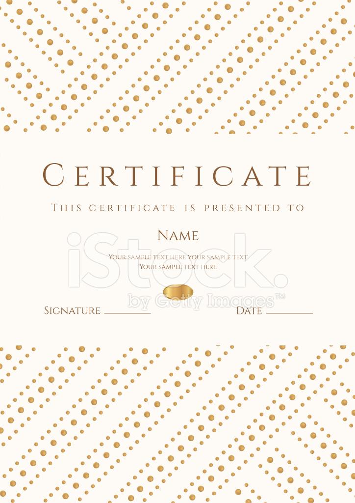 Zertifikat / Diplom Vorlage Gold Award Hintergrund) Stock Vector ...
