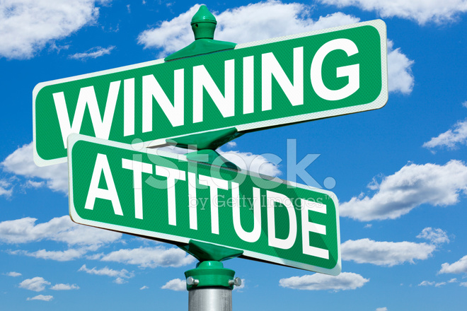 Winning Attitude Road Sign Stock Photos Freeimages Com