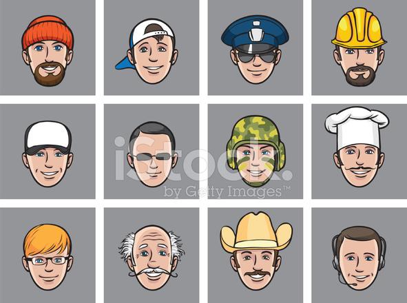 Avatar De Dibujos Animados Enfrenta A Diversas Ocupaciones