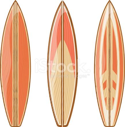 Vettore di tavole da surf in legno fotografie stock - Tavole da surf decathlon ...