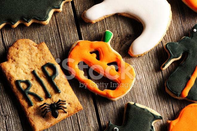 Galletas DE Jengibre Casero DE Halloween Fotografas de stock