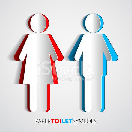Premium Stock Photo of Símbolos DE Papel Higiênico Banheiro Com Conduções  DE Homem E Mulher 7f28fd4604c
