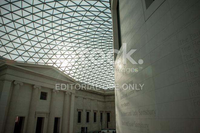 British Museum Foyer : British museum foyer interior glass ceiling stock photos