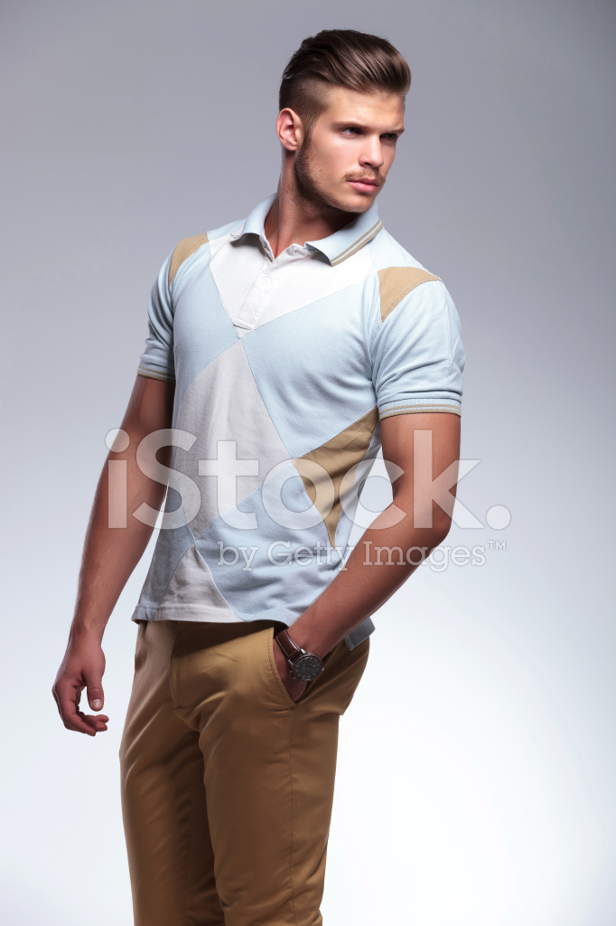 Casual Man Looks Over His Shoulder Stock Photos - FreeImages.com