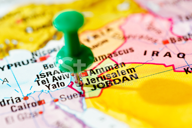Jerusalem On Map Of Middle East