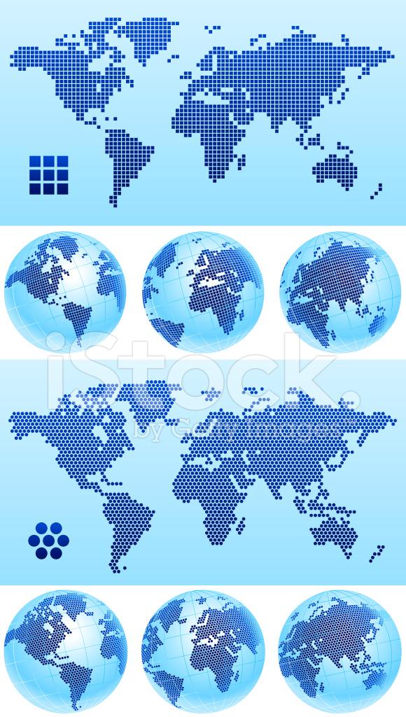 Globus Karte.Globus Karte Punktiert Stock Vector Freeimages Com