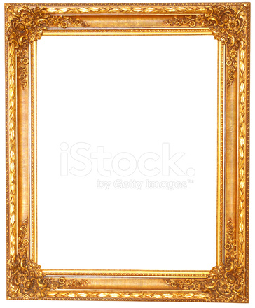 Old Antique Golden Frame Isolated on White Background Stock Photos ...