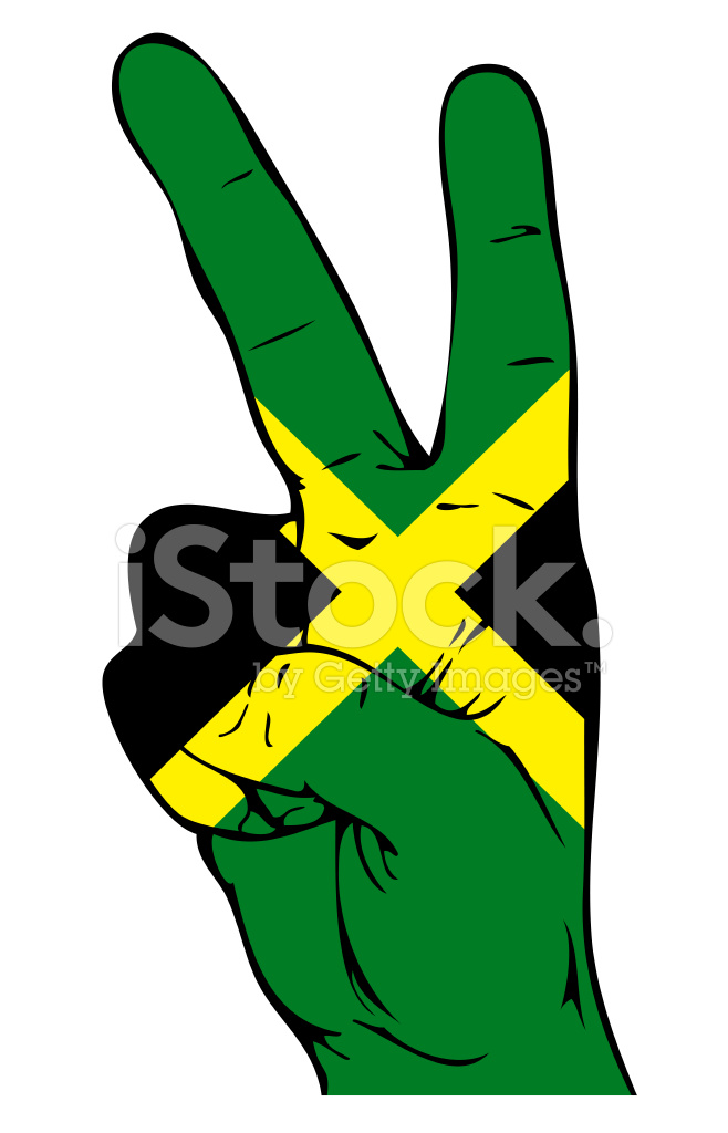 Peace Sign Of The Jamaican Flag Stock Vector Freeimages