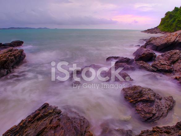 Sea And Sky Evening @ Koh Samet Stock Photos