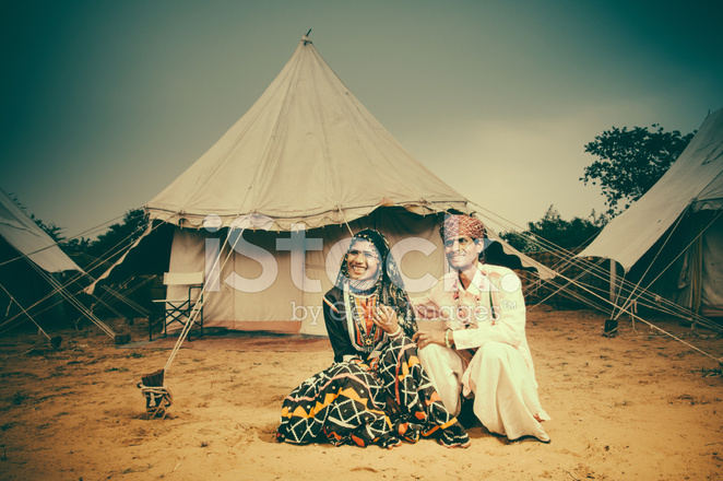 f2f734cf9c Indian Couple BY Their Tent Stock Photos - FreeImages.com