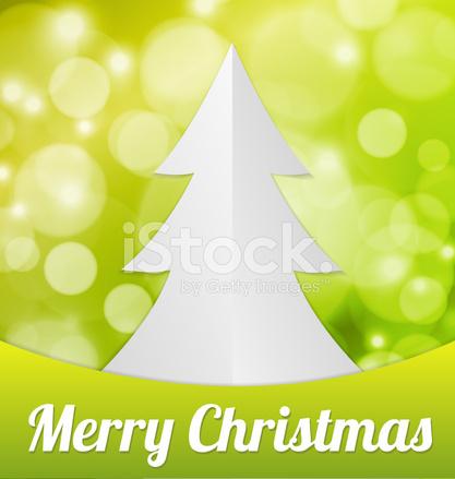Vouw Papier Kerstboom Stock Vector Freeimagescom