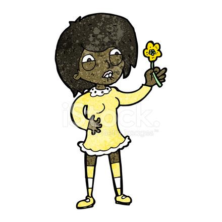 Femme Fière De Dessin Animé Avec Plante Stock Vector