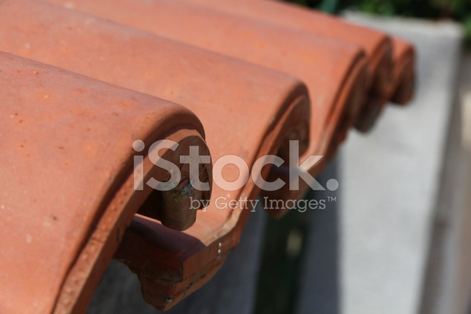 Red Clay Tiles on Roofside Stock Photos - FreeImages com