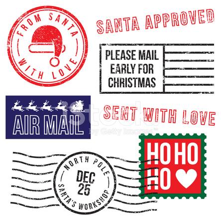 Santa s christmas rubber stamps stock photos freeimages com