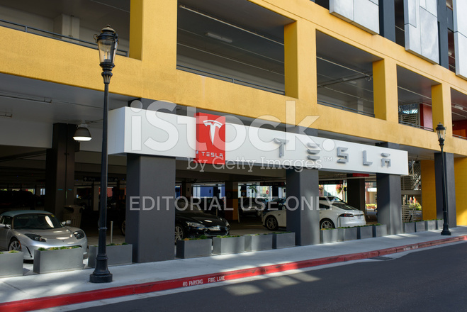 a tesla charging station in san jose california stock photos. Black Bedroom Furniture Sets. Home Design Ideas