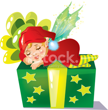 sleeping elf stock vector freeimages com