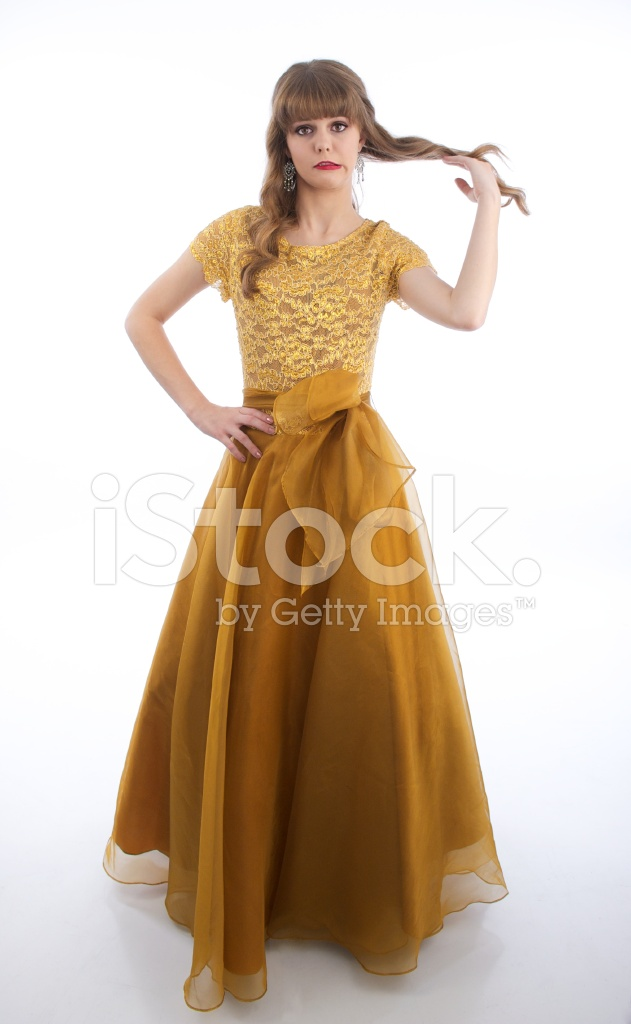 Teen Girl Standing IN Formelle Prom Kleid Stockfotos - FreeImages.com