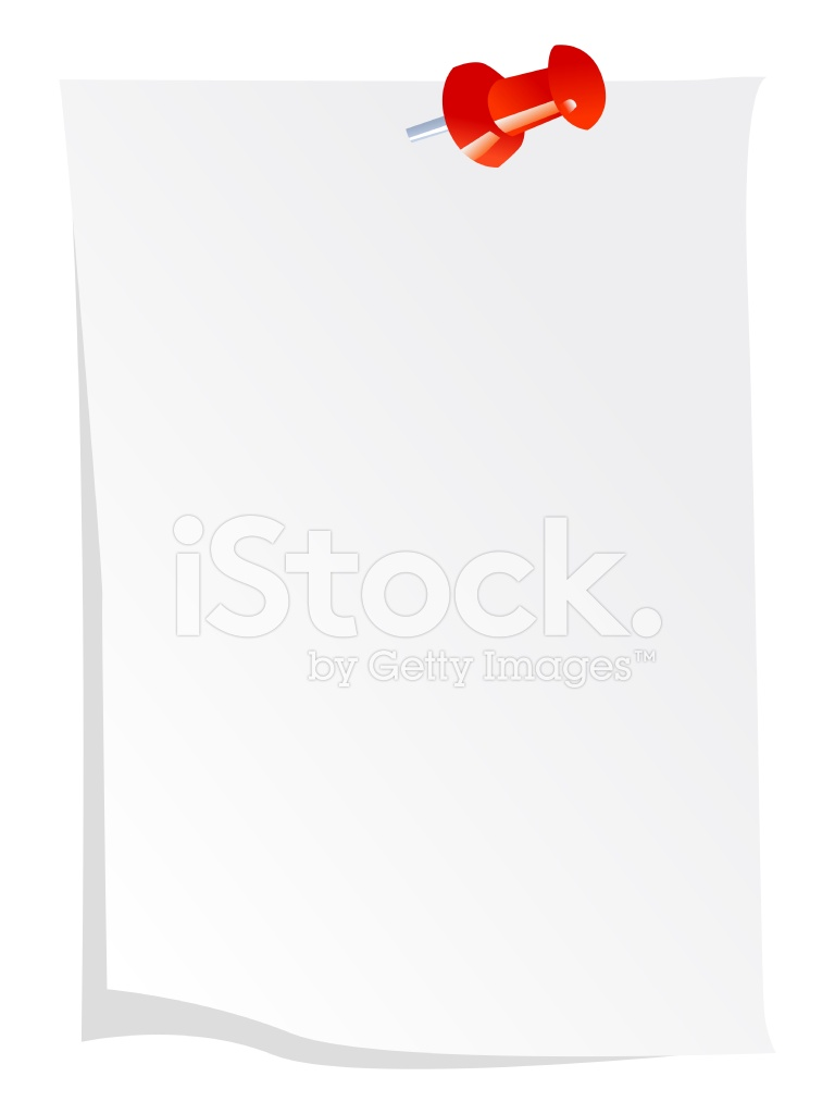 Note Paper With Push Drawing Pin Stock Vector - FreeImages.com
