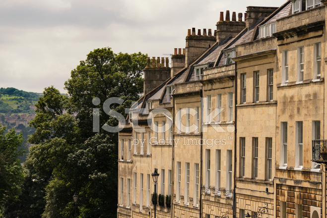 Bath, England Rows of Flats, Apartments, Row Homes Stock ...