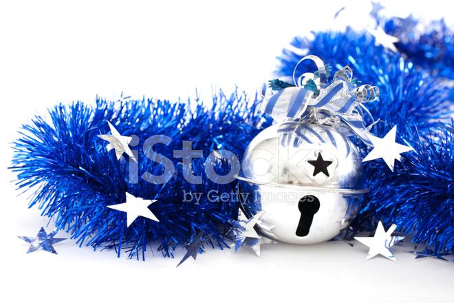 Decoracin Del Rbol De Navidad Bell En Malla Fotografas De Stock