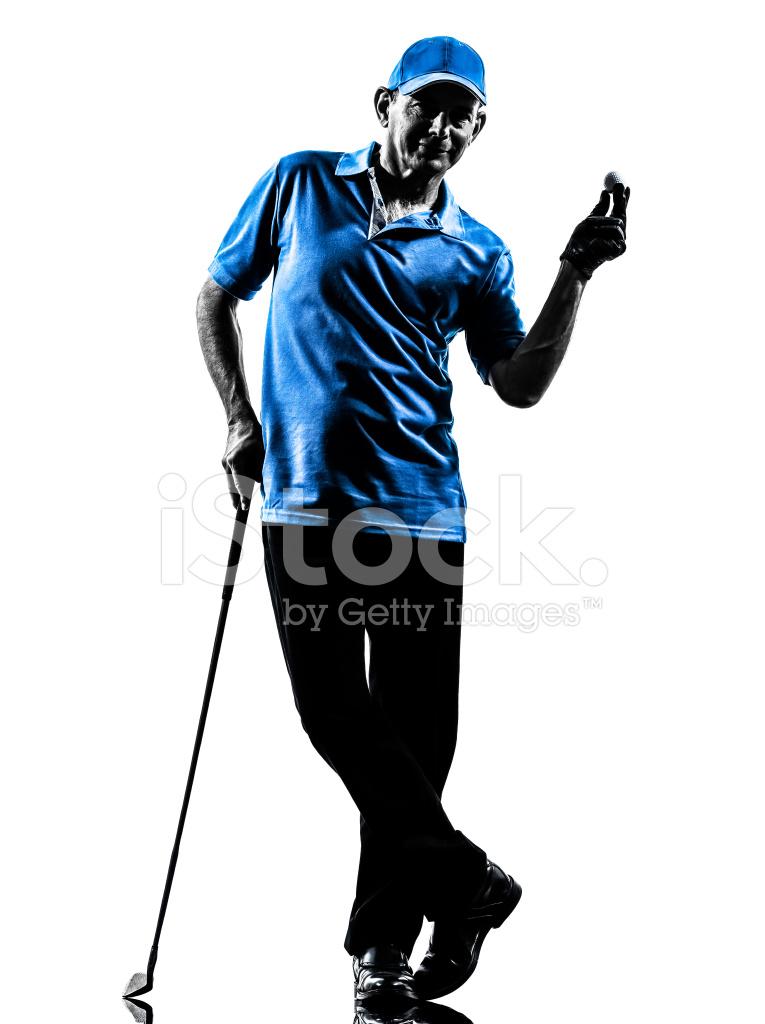 Mann Golfer Golf Silhouette Stockfotos Freeimages Com