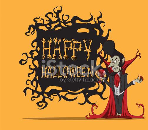 Cartone animato conte mostro di halloween fotografie stock
